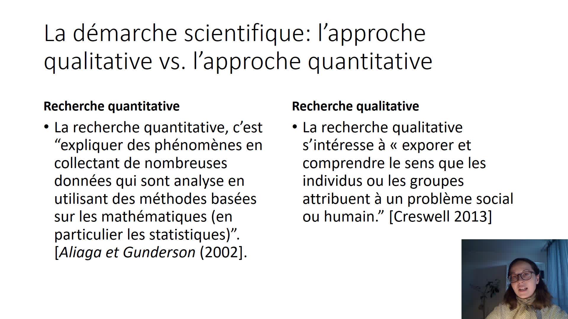 approche quantitative et qualitative